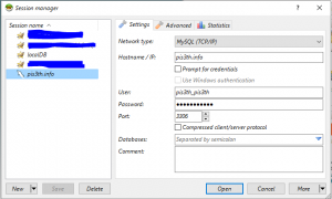 Configure MySQL Connection in HeidiSQL